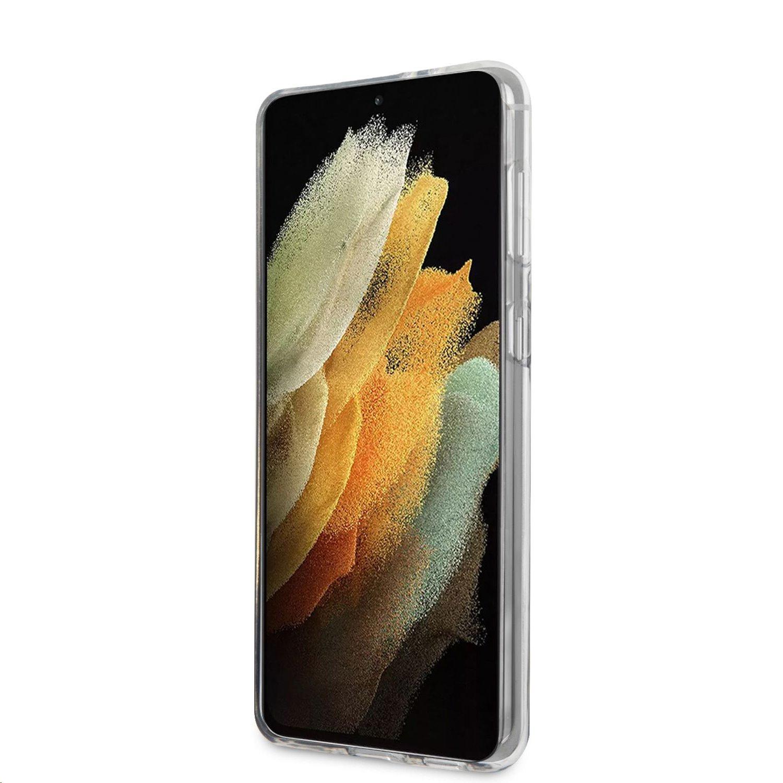 Zadní kryt Guess PC/TPU Vintage GUHCS21SPCUGLSBK pro Samsung Galaxy S21, černá
