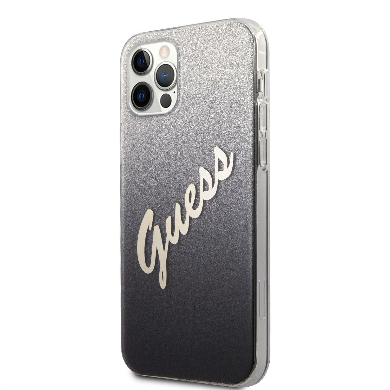 Zadní kryt Guess PC/TPU vintage GUHCP12MPCUGLSBK pro Apple iPhone 12/12 Pro, černá