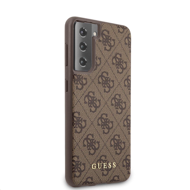 Zadní kryt Guess GUHCS21SG4GFBR 4G pro Samsung Galaxy S21, hnědá