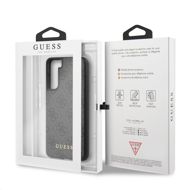 GUHCS21MG4GFGR Guess 4G Zadní Kryt pro Samsung Galaxy S21+ Grey