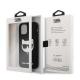Silikonový kryt Karl Lagerfeld Choupette Head KLHCP12LSLCHBK pro Apple iPhone 12 Pro Max, černá