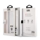 Zadní kryt Karl Lagerfeld PC/TPU Karl & Choupette KLHCA72CKTR pro Samsung Galaxy A72, transparent