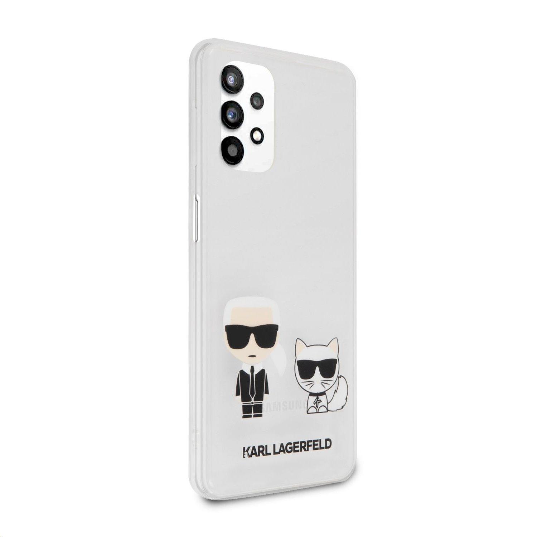 Zadní kryt Karl Lagerfeld PC/TPU Karl & Choupette KLHCA32CKTR pro Samsung Galaxy A32 5G, transparent