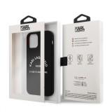 Silikonový kryt Karl Lagerfeld Rue St Guillaume KLHCP12MSLSGRBK pro Apple iPhone 12/12 Pro, černá