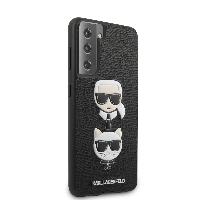 Karl Lagerfeld Saffiano K&C Heads kryt pro Samsung Galaxy S21, černá