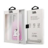 Zadní kryt Karl Lagerfeld PC/TPU Choupette Eats KLHCS21MCFNRCPI pro Samsung Galaxy S21+, růžová