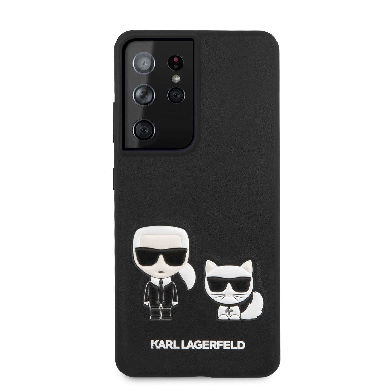 Zadní kryt Karl Lagerfeld PU Karl & Choupette KLHCS21LPCUSKCBK pro Samsung Galaxy S21 Ultra, černá