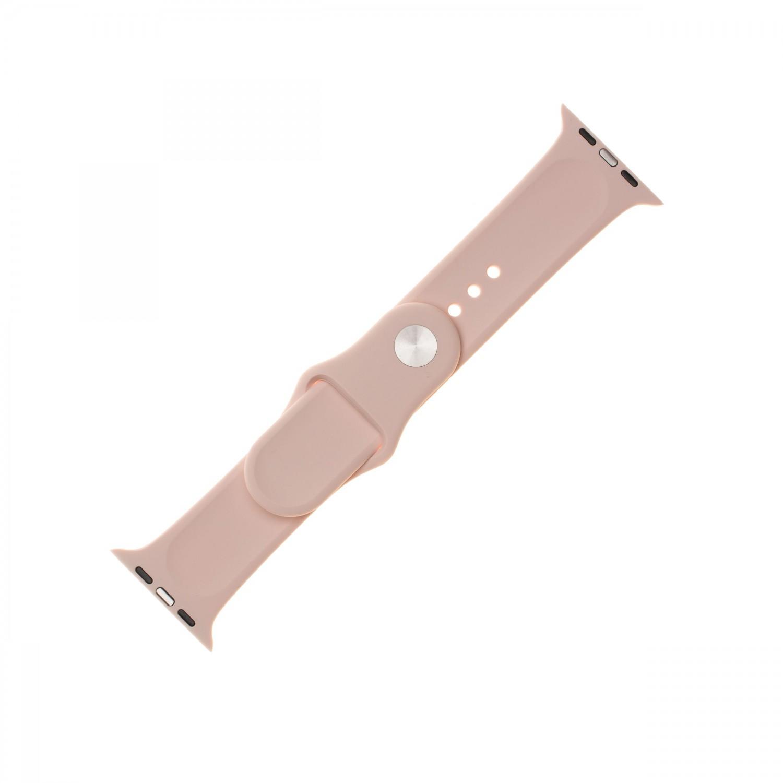 Set silikonových řemínků FIXED Silicone Strap pro Apple Watch 42 mm/44 mm, růžová