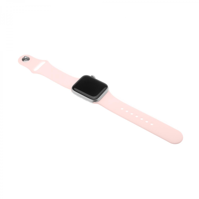 Set silikonových řemínků FIXED Silicone Strap pro Apple Watch 38 mm/40 mm, růžová