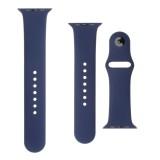 Set silikonových řemínků FIXED Silicone Strap pro Apple Watch 38 mm/40 mm, modrá