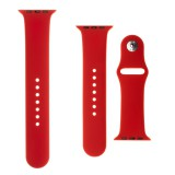 Set silikonových řemínků FIXED Silicone Strap pro Apple Watch 38 mm/40 mm, červená