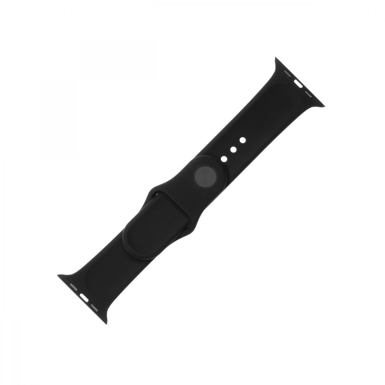 Set silikonových řemínků FIXED Silicone Strap pro Apple Watch 38 mm/40 mm, černá
