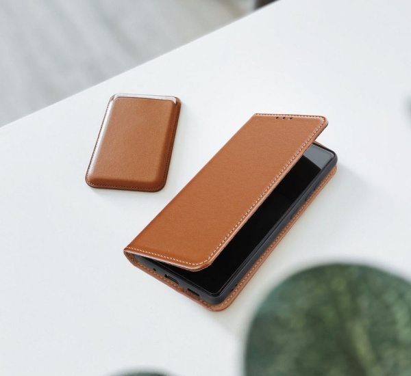 Flipové pouzdro Forcell SMART PRO pro Samsung Galaxy A02s, hnědá