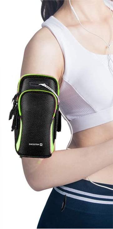 Sportovní pouzdro Swissten Armbag černá