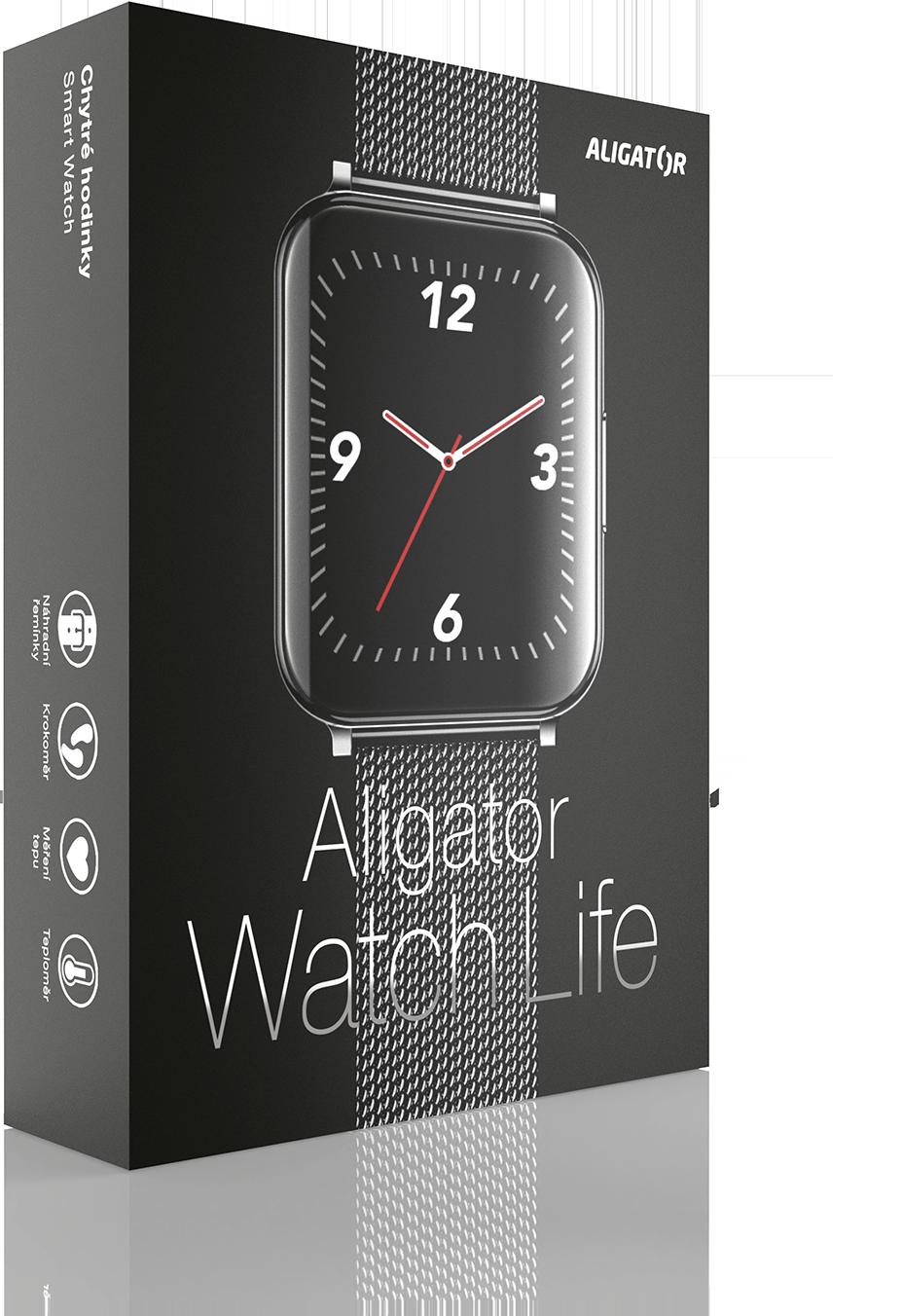 Aligator Watch Life černá