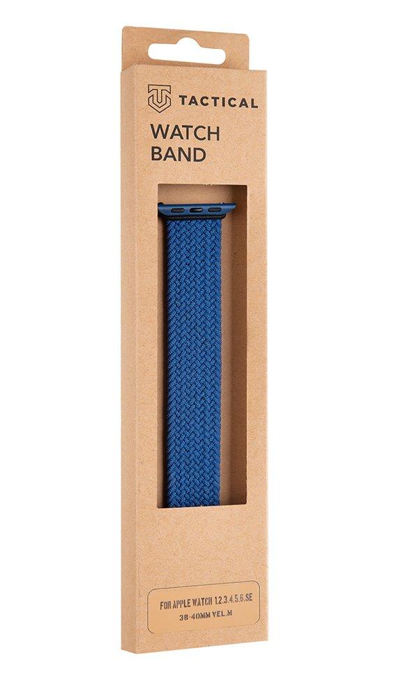 Pletený řemínek Tactical 755 M, Apple Watch 38mm/40mm, modrá