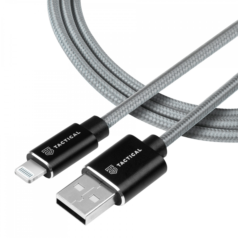 Kábel Tactical Fast Rope Aramid Cable USB-A / Lightning PFI, 0.3m, šedá