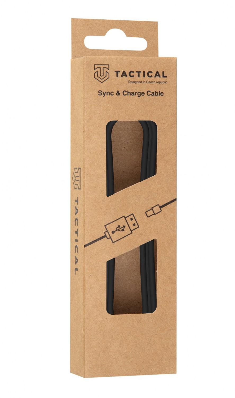 Kábel Tactical Smooth Thread Cable USB-A / USB-C 12mm, 1m, čierna