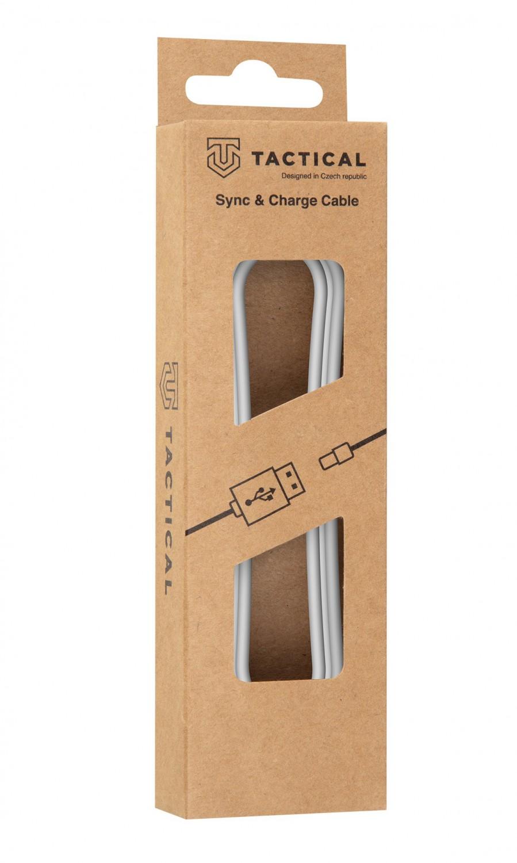 Kábel Tactical Smooth Thread Cable USB-A / USB-C, 1m, biela