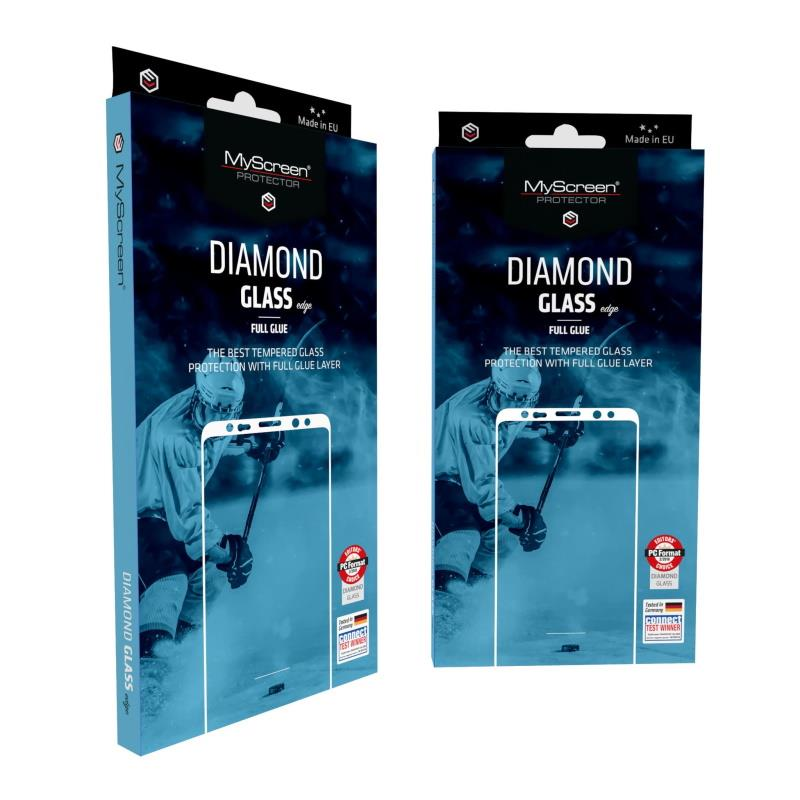 Ochranné sklo MyScreen Diamond Glass Edge FullGlue pre Apple iPhone 12/12 Pro, čierna