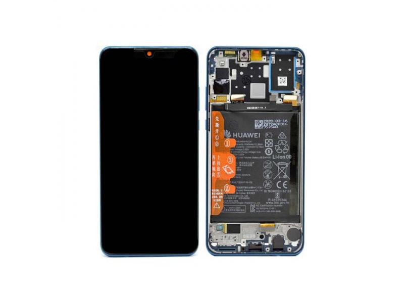 LCD + dotyk + rámček + batéria pre Huawei P30 Lite New Edition 2020, peacock blue (Service Pack)