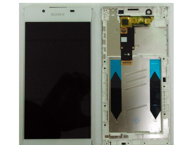 LCD + dotyk + rámček pre Sony Xperia L1, white (OEM)