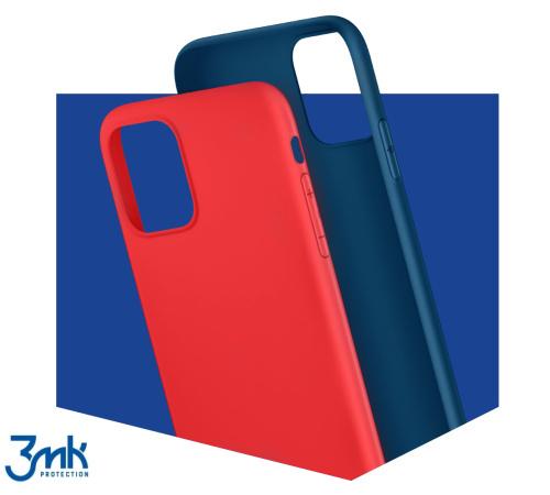 Ochranný kryt 3 mastných kyselín Matt Case pre Apple iPhone 13 mini, červená