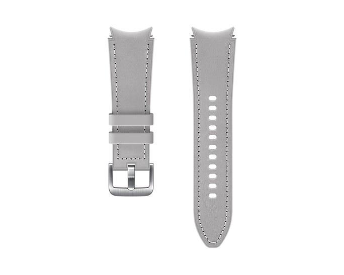 Hybridní kožený řemínek Samsung ET-SHR88SSEGEU velikost S/M 20mm, stříbrná