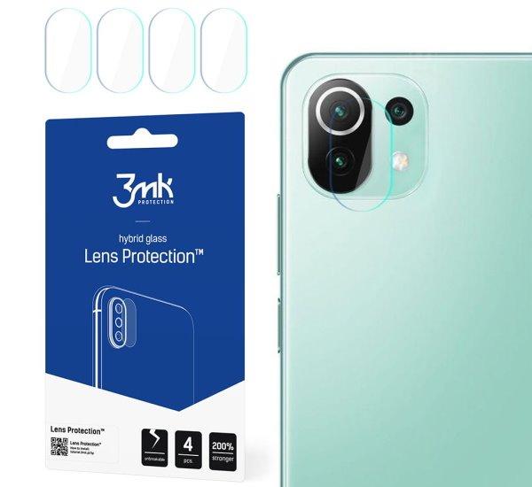 Hybridné sklo 3 mastných kyselín Lens ochrana kamery pre Xiaomi Mi 11 Lite (4ks)