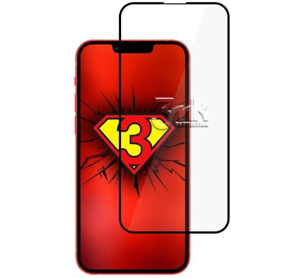 Hybridné sklo 3 mastných kyselín NeoGlass pre Apple iPhone 13 Pro Max, čierna