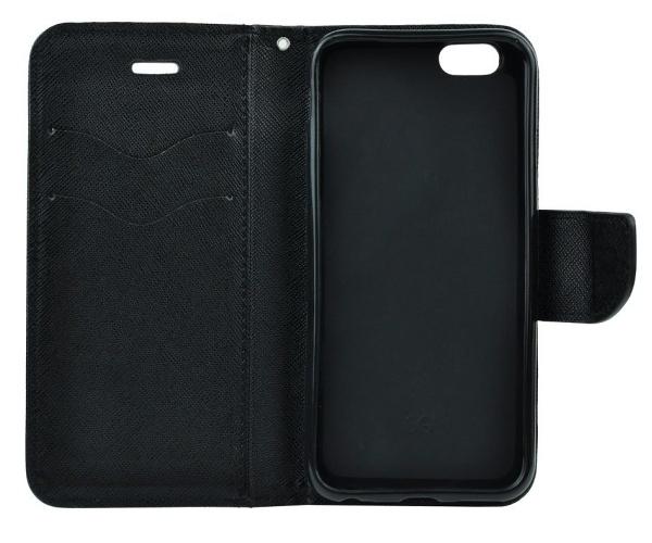 Flipové pouzdro Fancy pro Samsung Galaxy A22 5G, černá