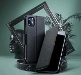 Flipové pouzdro Fancy pro Samsung Galaxy A22, černá-zlatá