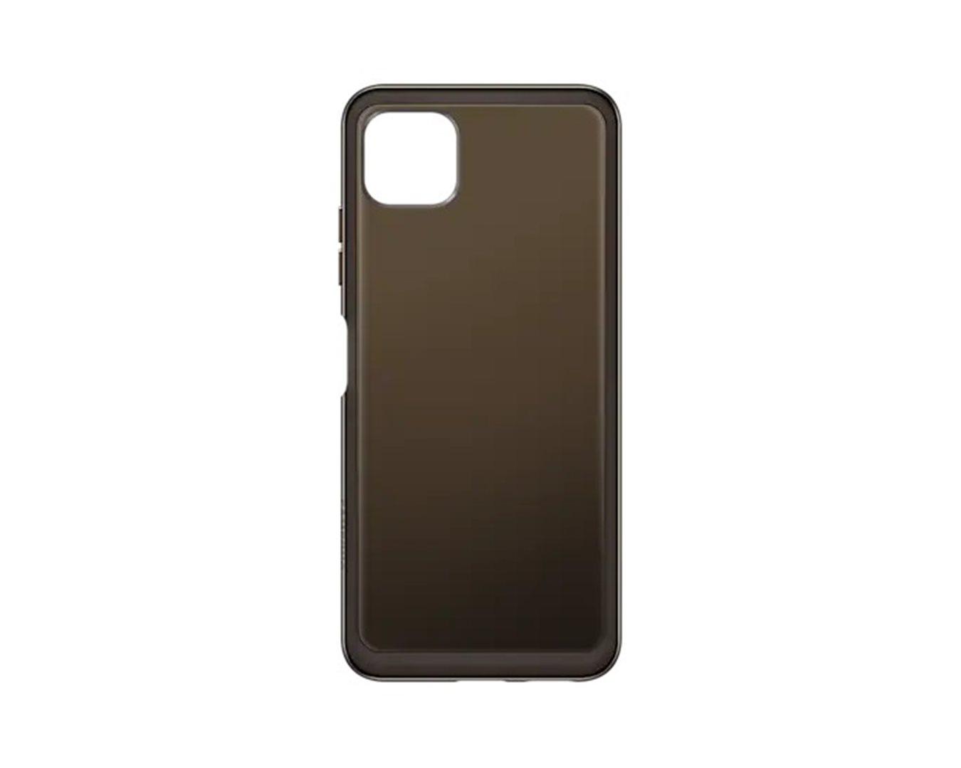 Poloprůhledný zadní kryt pro Samsung Galaxy A22 LTE, černá