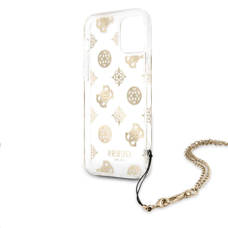 Zadní kryt Guess GUHCP12MKSPEGOPC Chain Peony pro Apple iPhone 12/12 Pro, zlatá