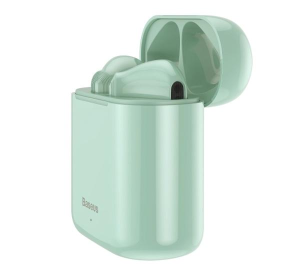 Sluchátka Bluethooth BASEUS Encok True WM09, TWS, zelená