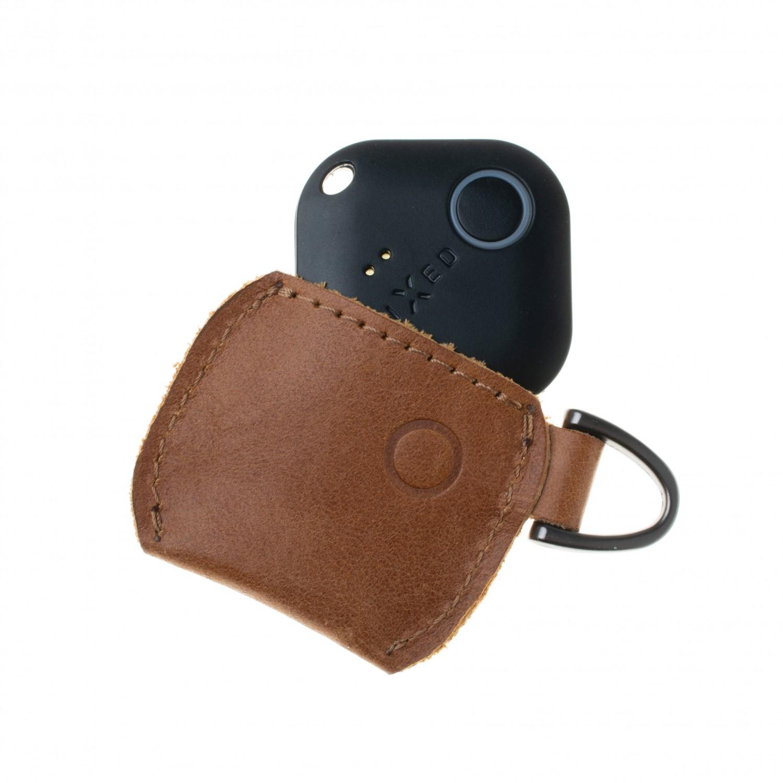 Kožené pouzdro FIXED Smile Case se smart trackerem FIXED Smile Pro, hnědá