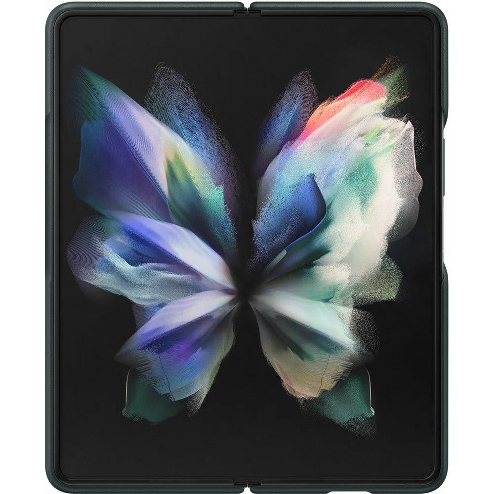Ochranný kryt Leather Cover EF-VF926LGE pro Samsung Galaxy Z Fold 3, zelená