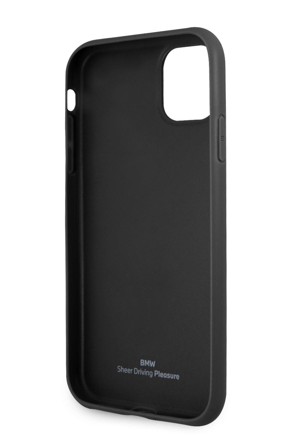 Ochranný kryt BMW Signature Leather Embossed Logo BMHCN61REELK pro Apple iPhone 11, černá