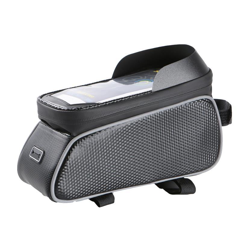 Voděodolná brašna na kolo s krytým pouzdrem na telefon Forever Model 02, černá