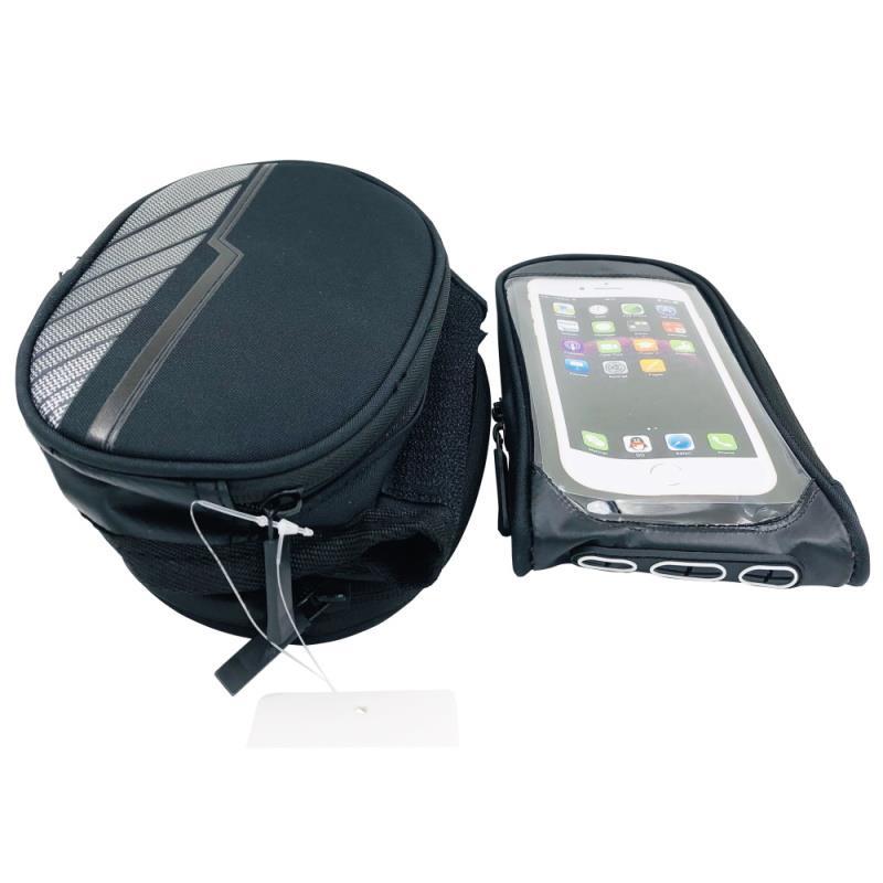 Voděodolná brašna na kolo s odnímatelným pouzdrem na telefon Forever, černá
