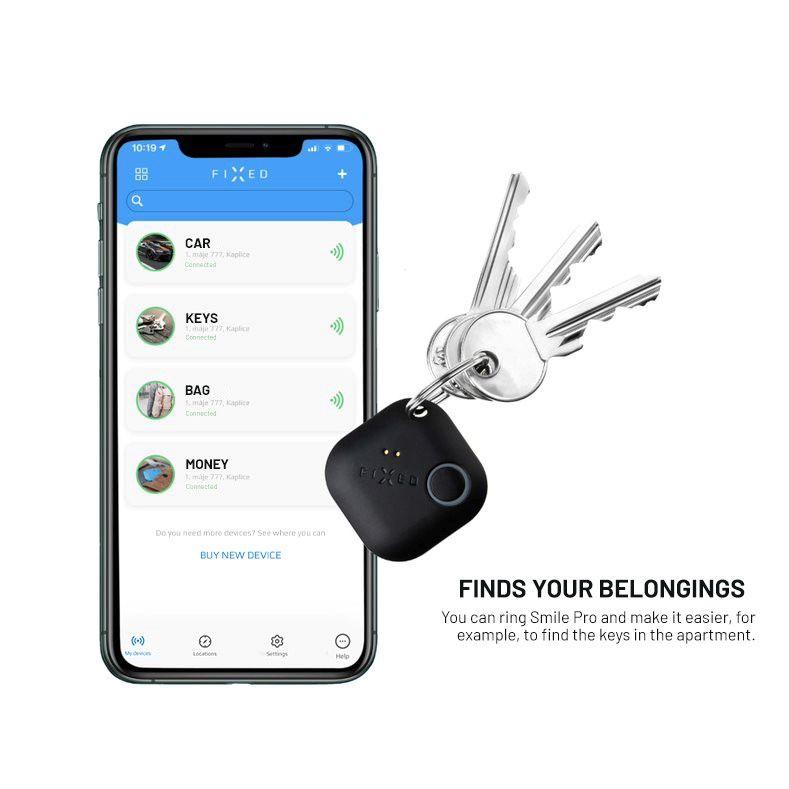 Smart tracker FIXED Smile PRO, 4-PACK, černý, bílý, modrý, červená