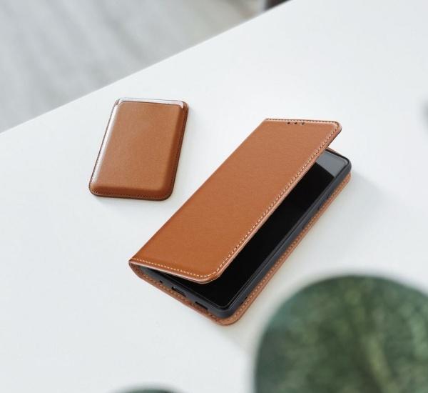 Flipové pouzdro Forcell SMART PRO pro Apple iPhone 13 mini, hnědá