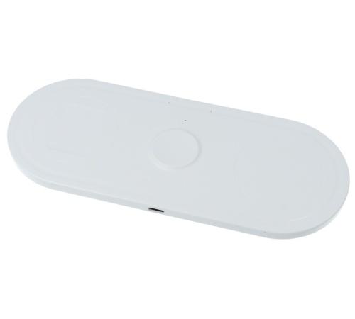 Nabíjecí podložka 3v1 KT-IW, 15W bezdrátové nabíjení, bílá