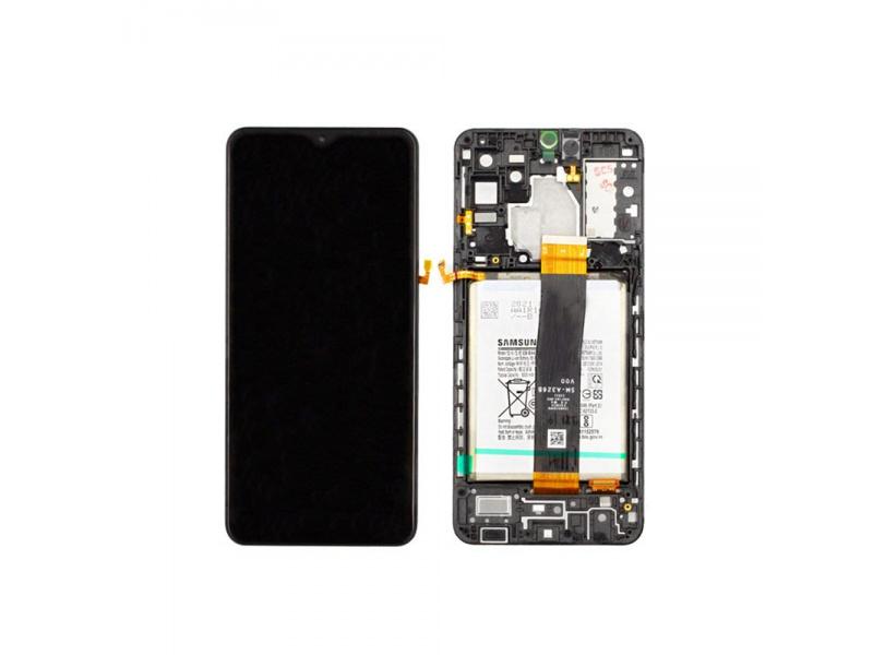 LCD + dotyk + rámček pre Samsung Galaxy A32 4G 2021, black (Service Pack)