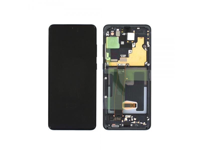 LCD + dotyk + rámček pre Samsung Galaxy S20 Ultra, awesome black (Service Pack)