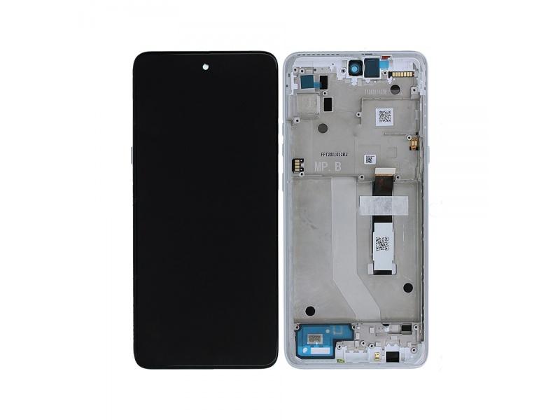 LCD + dotyk + rámček pre Motorola Moto G 5G, frosted silver (Service Pack)