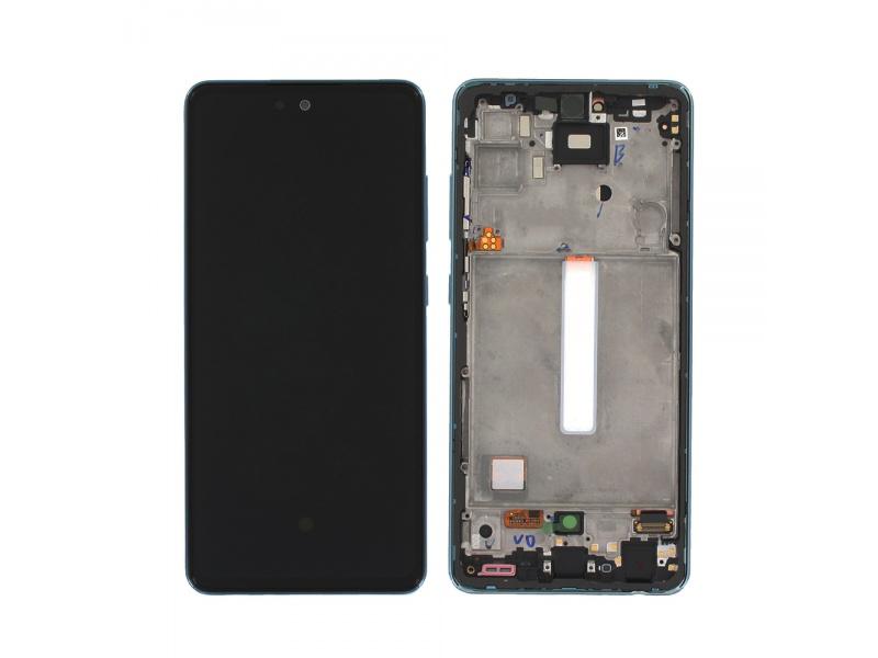 LCD + dotyk + rámček pre Samsung Galaxy A52 / A52 5G / A52s 5G, blue