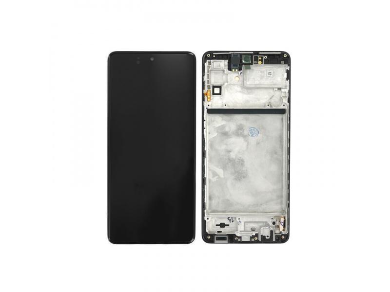 LCD + dotyk + rámček pre Samsung Galaxy M51 M515, celestial black (Service Pack)