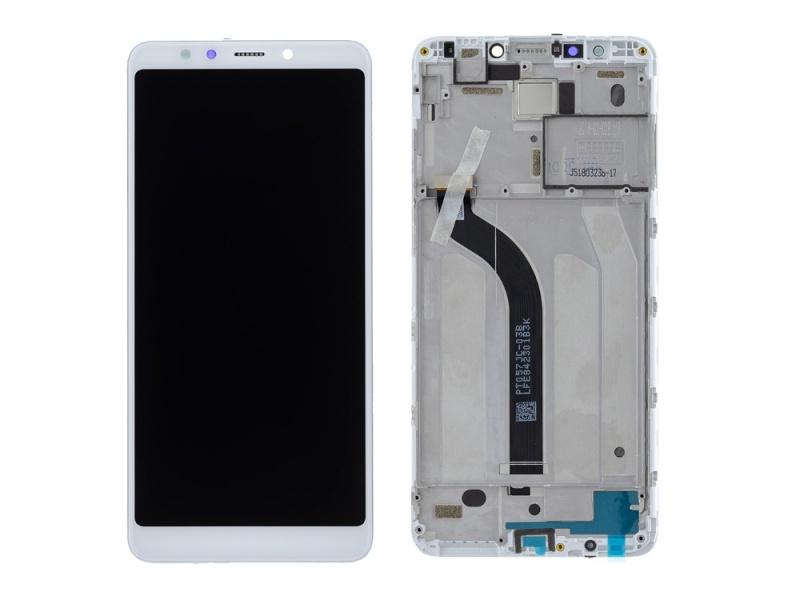 LCD + dotyk + rámček pre Xiaomi Redmi 5, white (Service Pack)