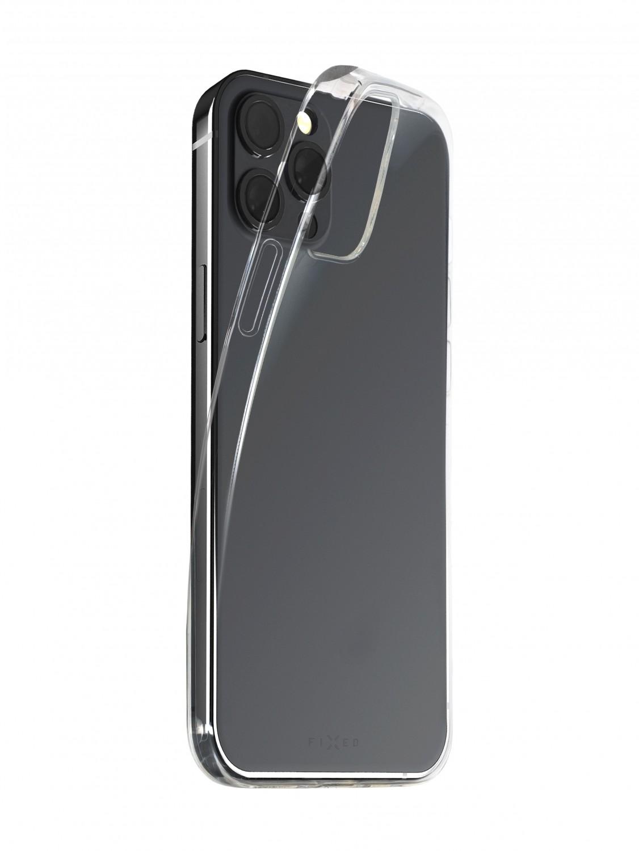 Zadné TPU gélové puzdro FIXED Slim AntiUV pre Apple iPhone 13 mini, číra